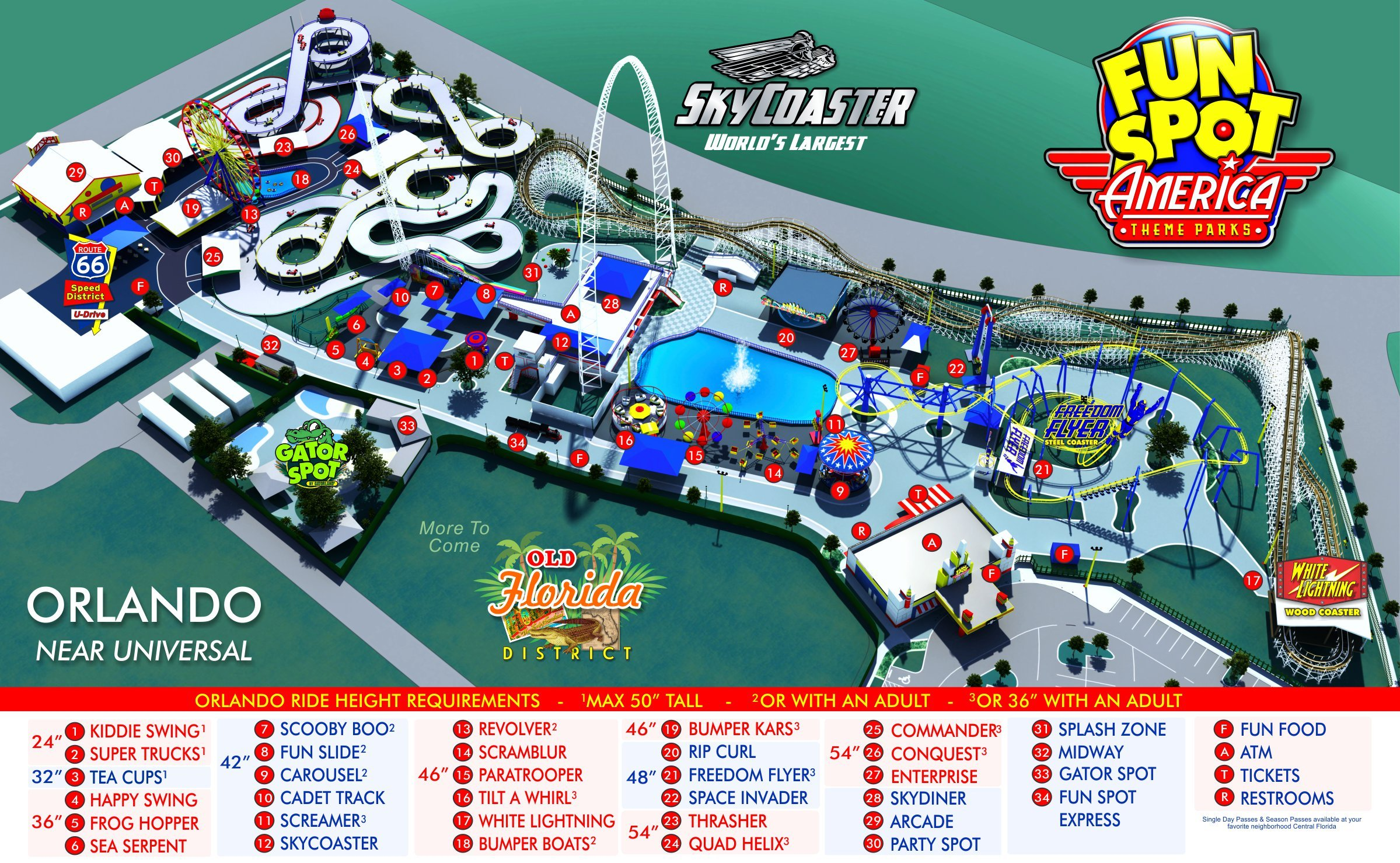 Orlando Park Map Theme Park Map - Map of amusement parks in the us