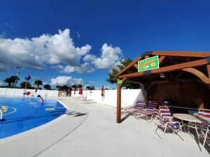 cabanas and splash pad