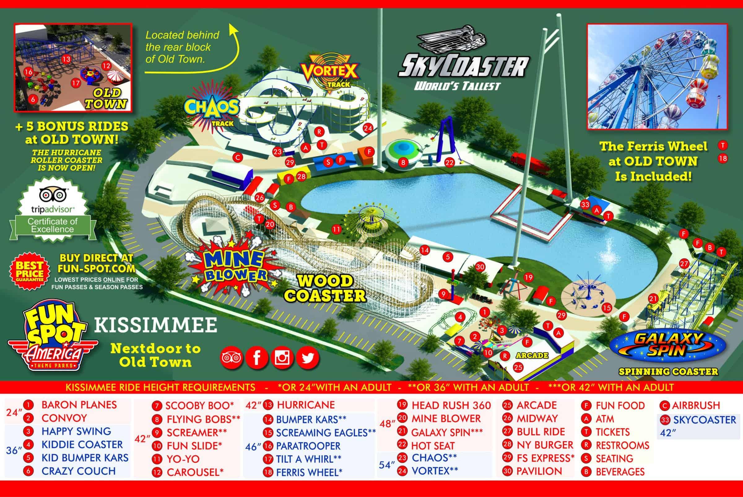 fun spot orlando map Kissimmee Theme Park Map Fun Spot Kissimmee Map fun spot orlando map