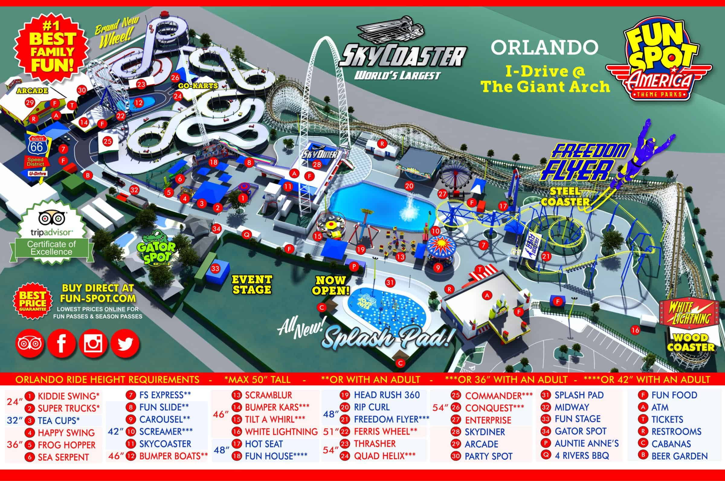fun spot orlando map Orlando Park Map Theme Park Map fun spot orlando map