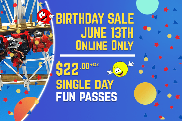 Birthday Sale June 13th Online Only