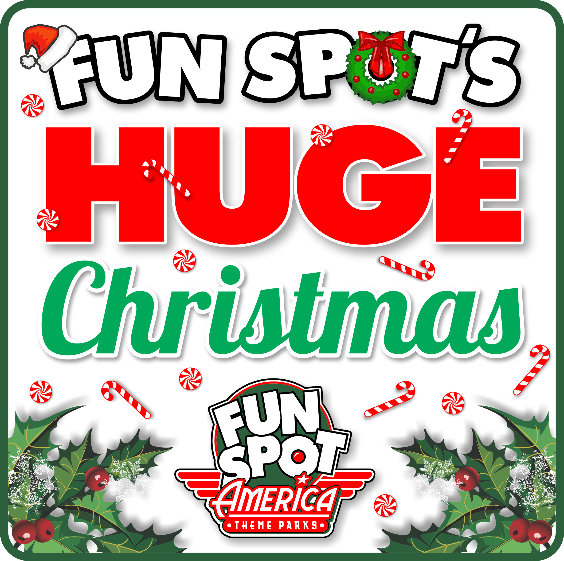 Fun Spot's HUGE Christmas Logo
