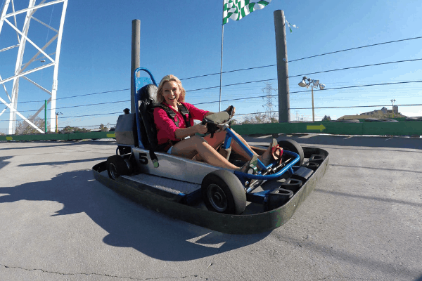 guest on go-kart